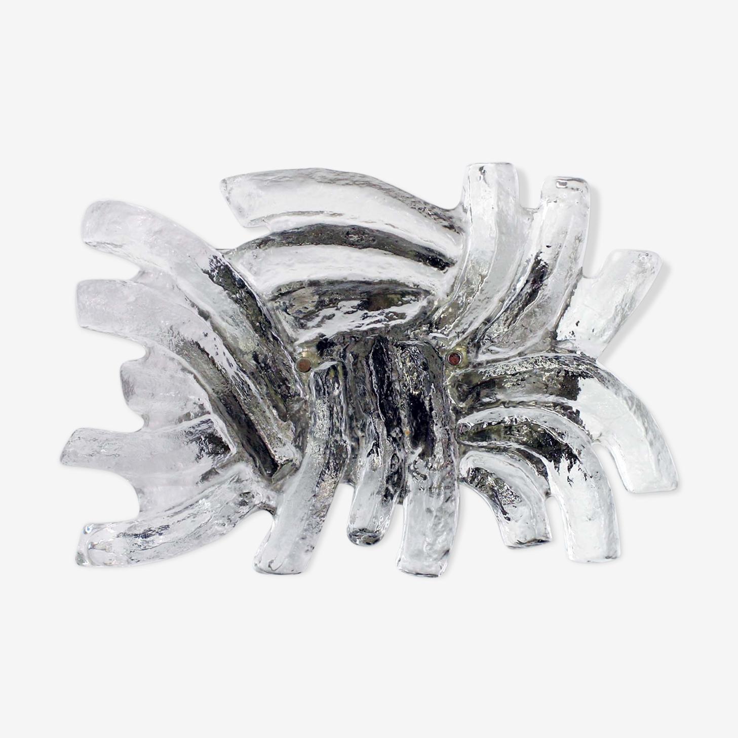 Applique Kalmar en verre givré