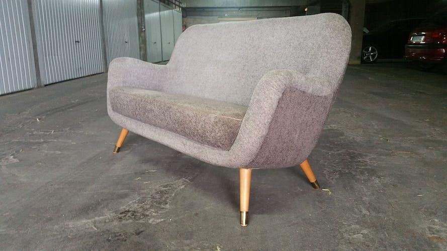 Sofa 2 places Egg 50s 60s
