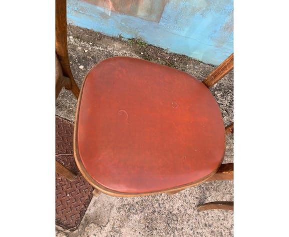 Lot de 4 chaises bistrot Baumann années 30