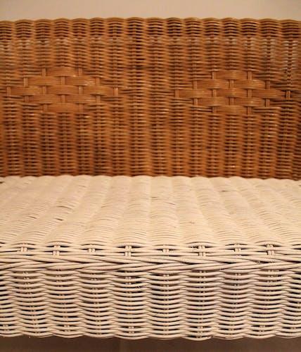 Rattan child's bench