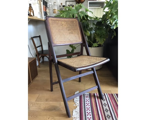 Wooden folding chair and canning