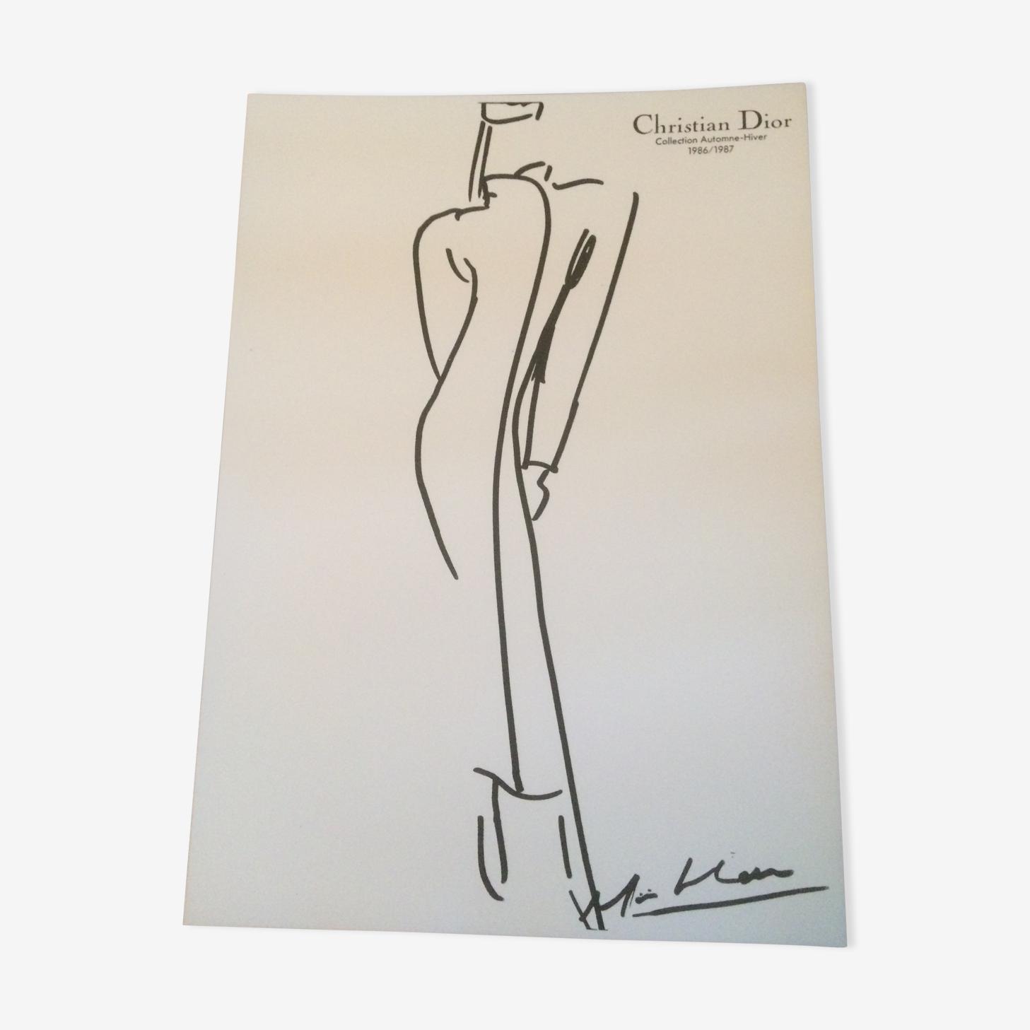 Illustration de mode et photographie Christian Dior années 80