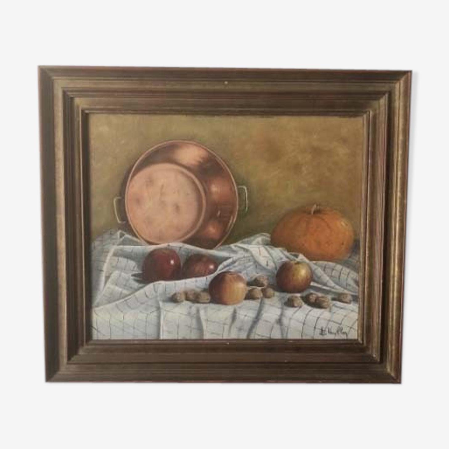 Still life framed by L Vaillon