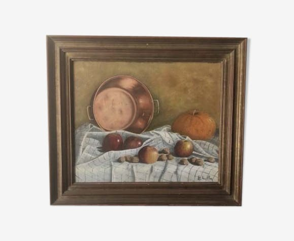 Still life framed by L Vaillon