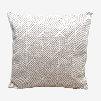 Cotton geometric design cushion
