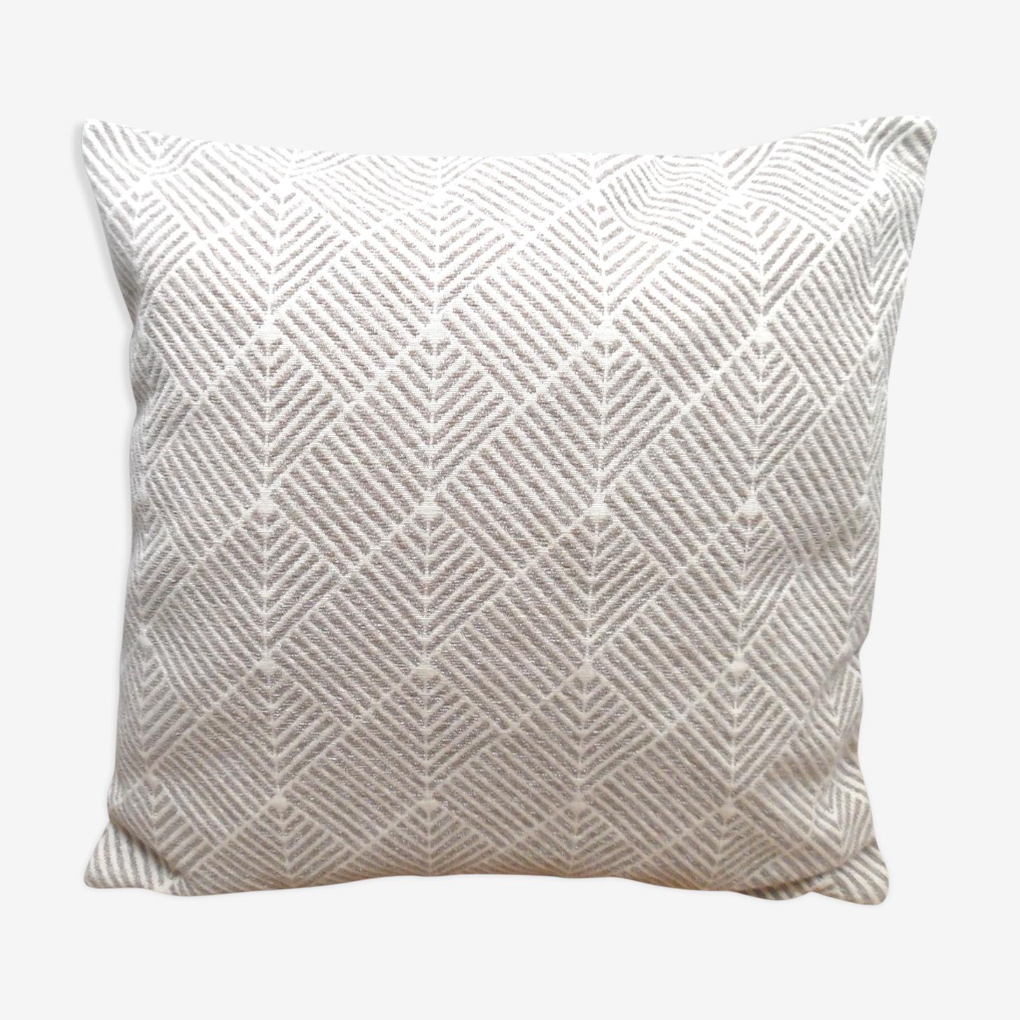 Coussin en coton dessin géométrique