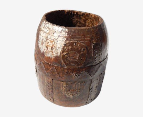 Pot à mesure kerala teck laiton ancien