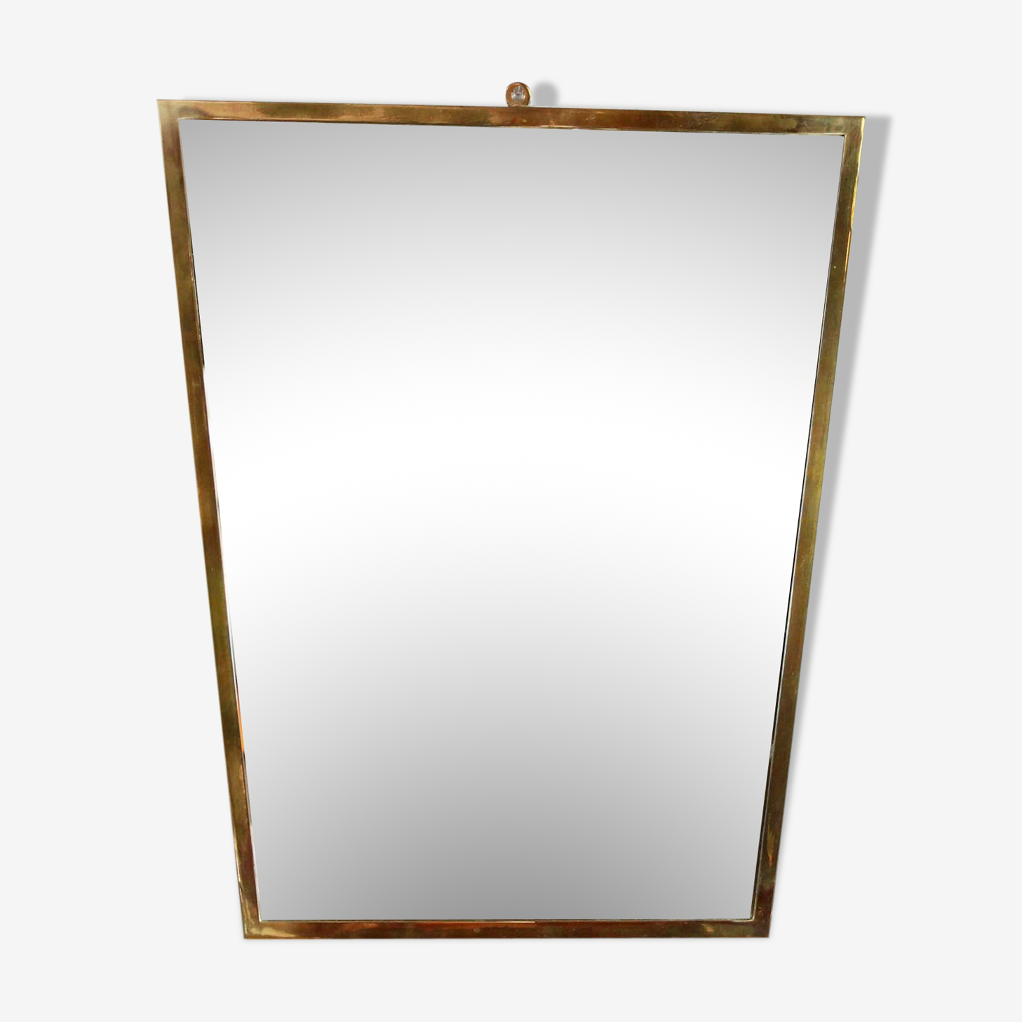 Mirror retroviseaur asymmetrical brass 42x36cm