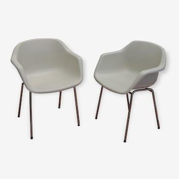 Ensemble de 4 fauteuils Strafor - Années 70