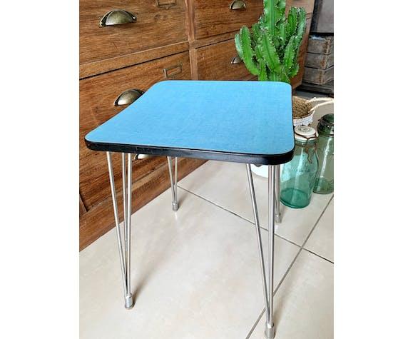 Formica stool with vintage eiffel feet