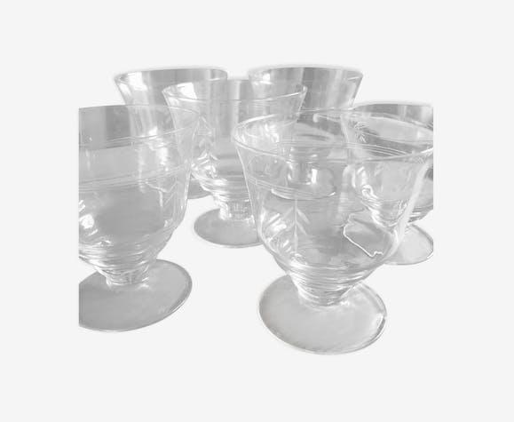 Produit BHV Lot de verres en cristal ciselé (19 pièces).