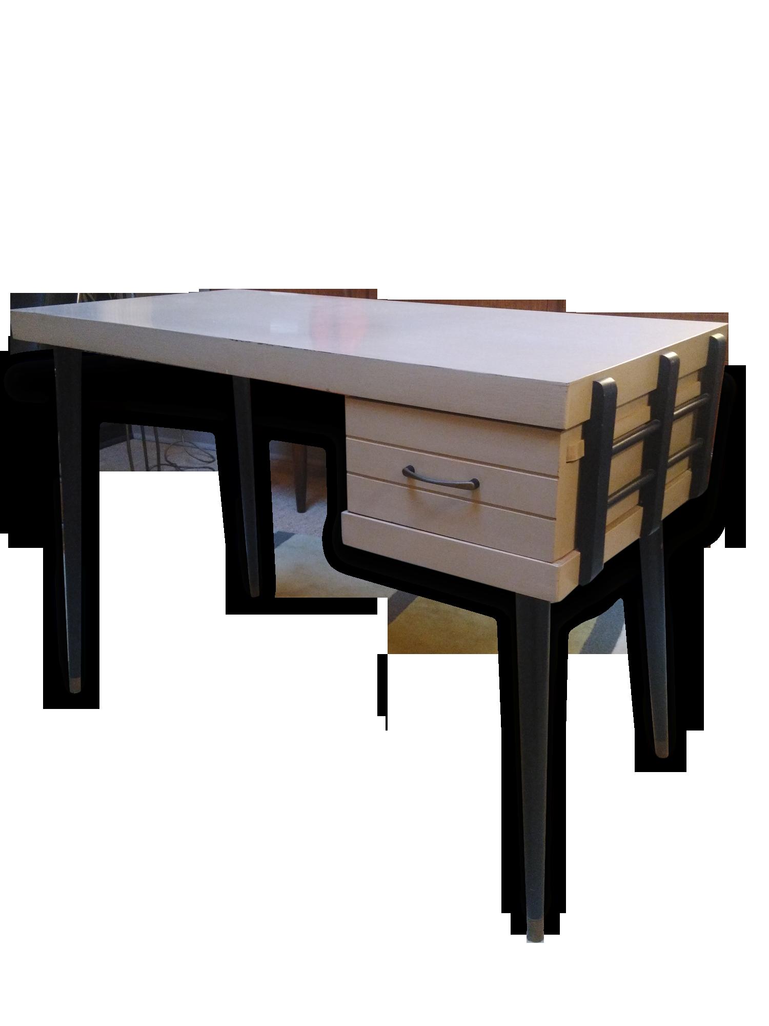 Bureau années etats unis bois matériau beige vintage