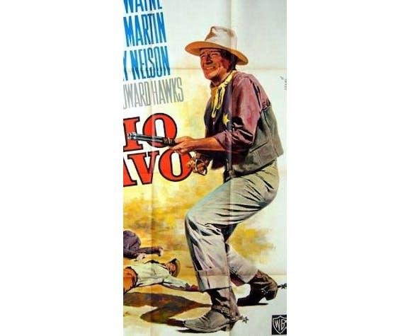 Affiche vintage Rio bravo John Wayne 120x160 cinéma