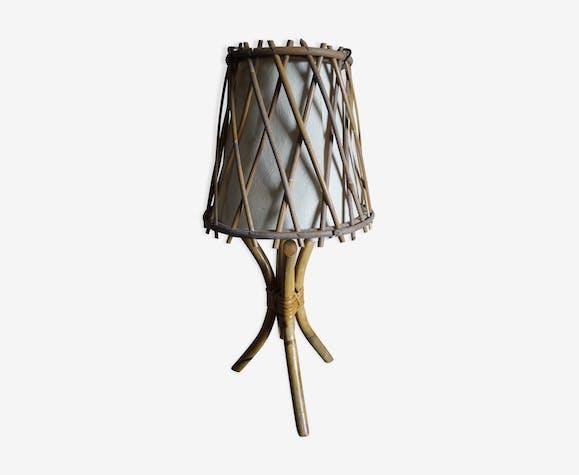Lampe vintage en rotin