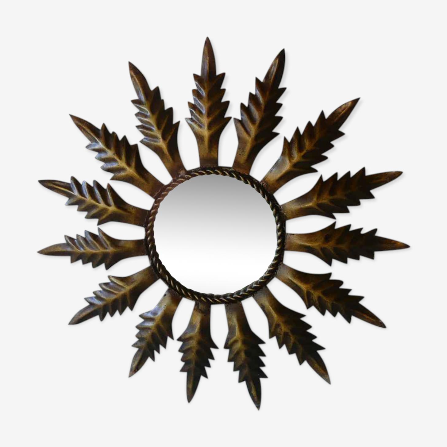 Sun years 50-60 metal mirror 48cm