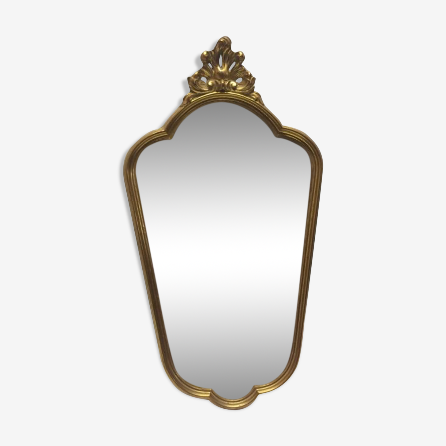 Old gold mirror
