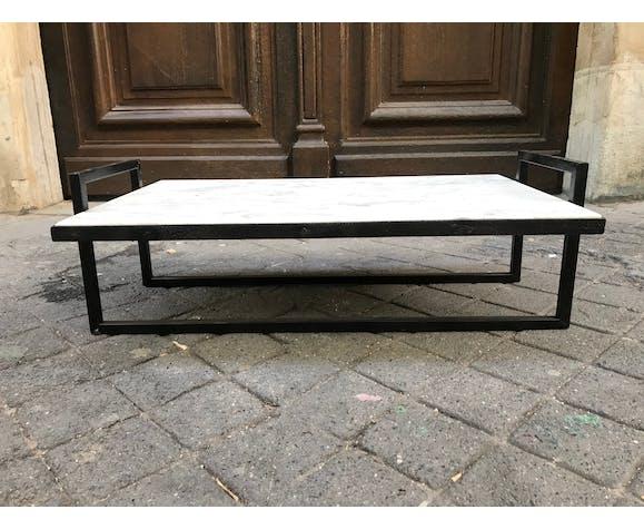 Table basse en marbre années 70