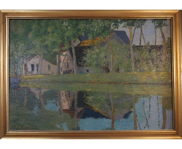 Eugène Kissling Le canal du Nivernais près d'Escolives Yonne, 1942