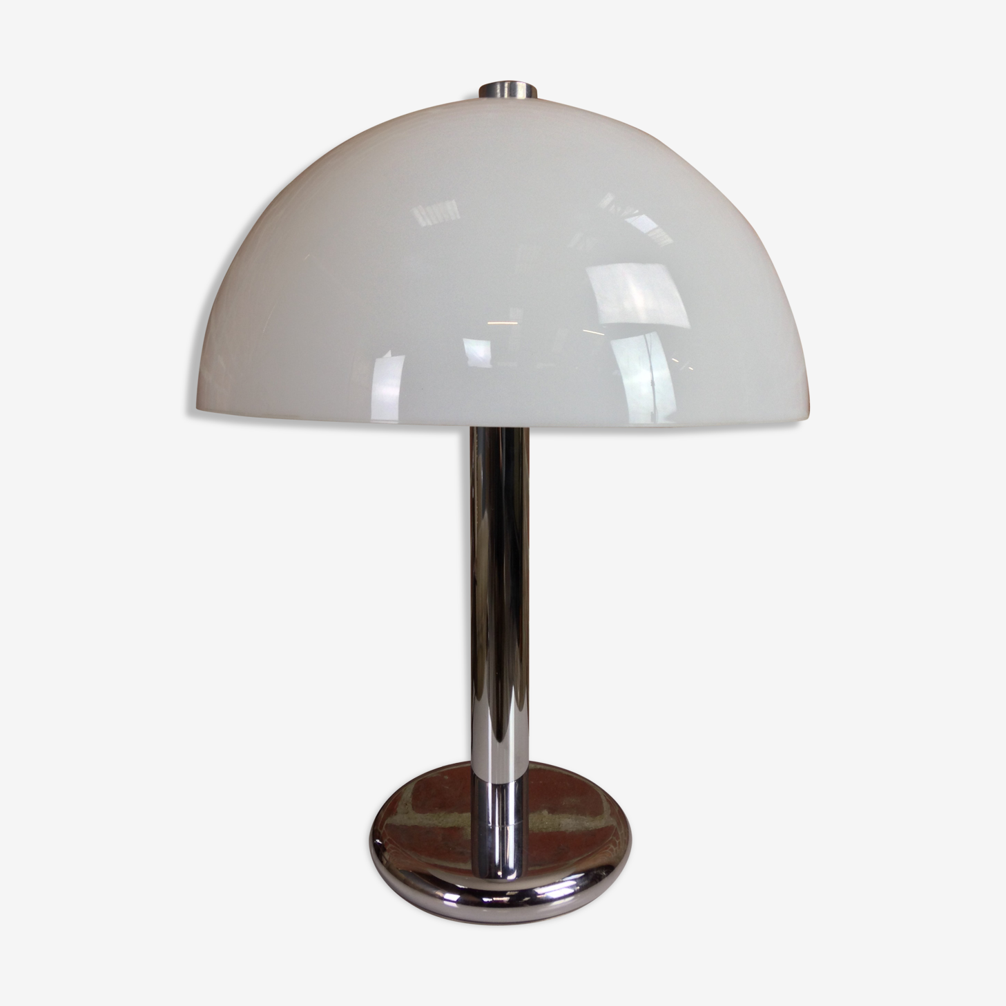 Lampe Champignon Metal Blanc Vintage Viydtsd