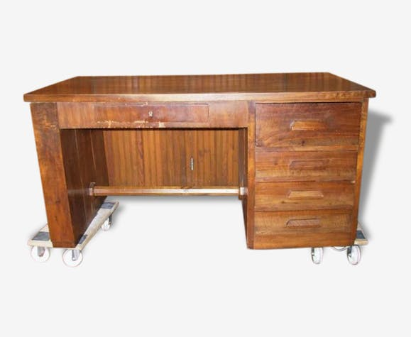 Bureau bois ancien années 40 50 wood wooden classic 112669