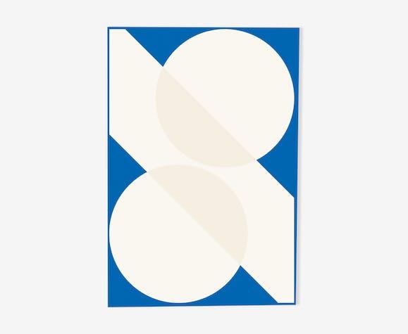 "Illustration ""Two Circles and a Diagonal"""
