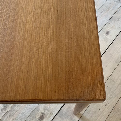 Table scandinave teck rectangle 120x80