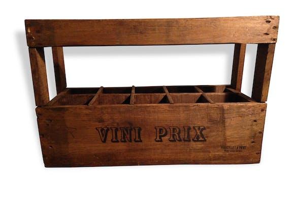 ancienne caisse a vin en bois restaur e vini prix 10. Black Bedroom Furniture Sets. Home Design Ideas