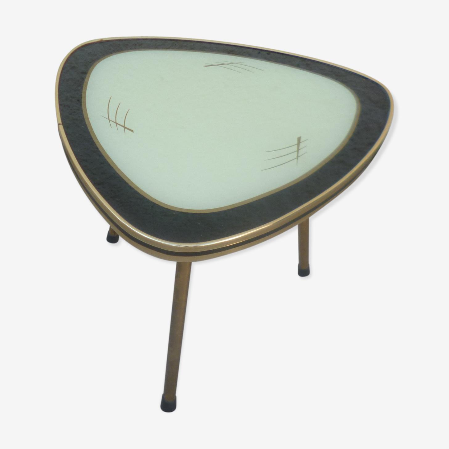 Tripod coffee table glass 1960
