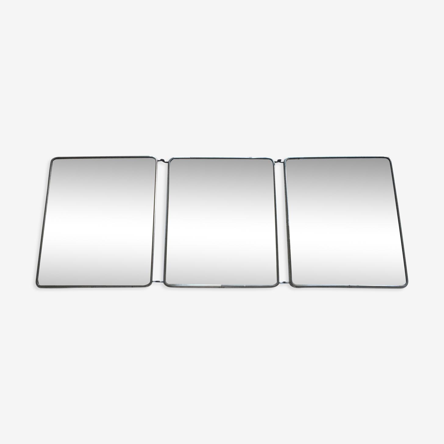 Miroir triptyque de barbier 30x79cm
