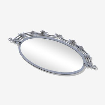 Mirror oval beveled glass art new 120 x 57 cm