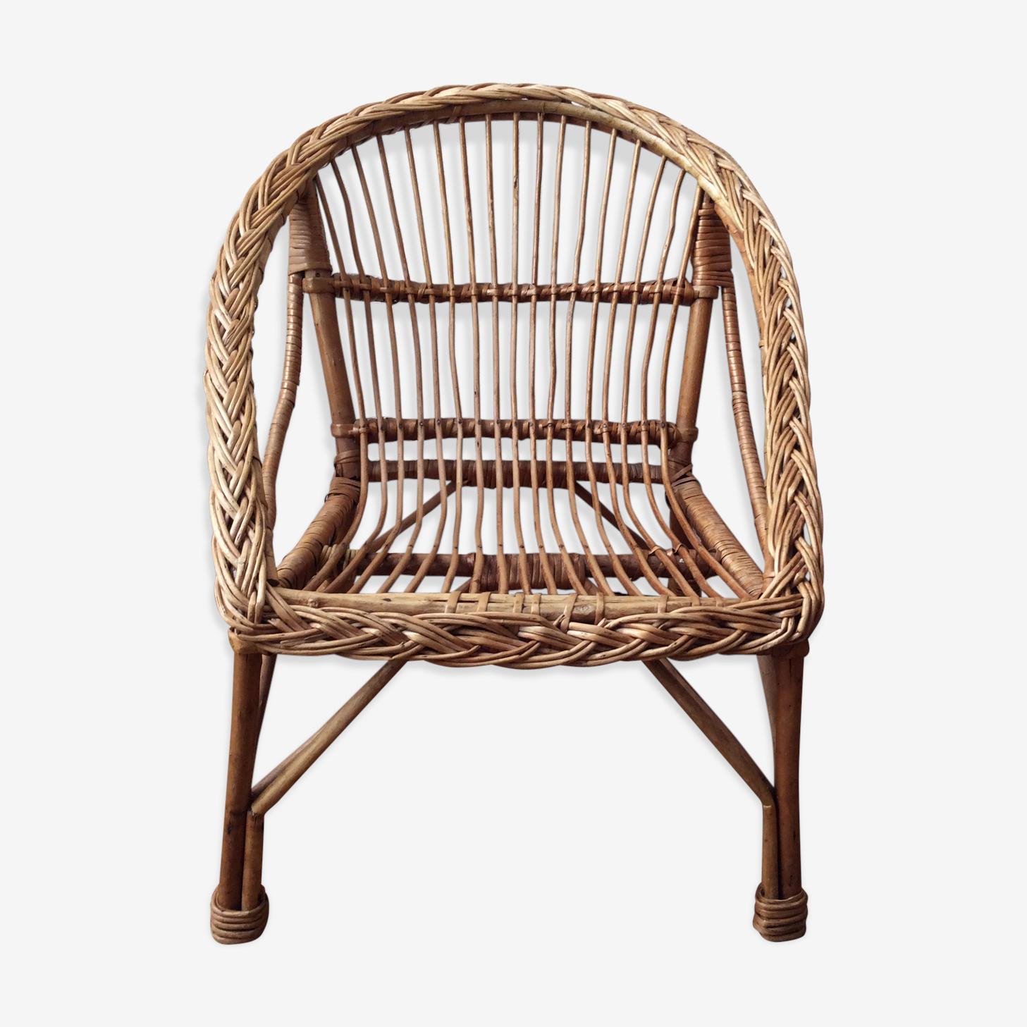 Child wicker armchair