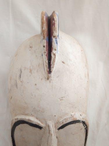 Ancien masque Africain en bois des années 50