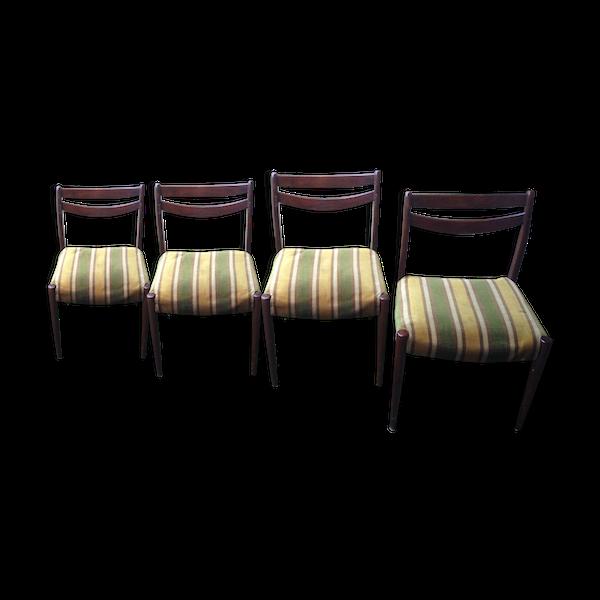 Ensemble de 4 chaises design scandinave