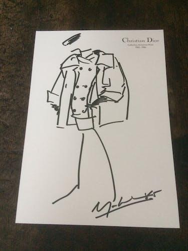 Christian dior : illustration de mode de presse - Collection Automne - Hiver 1985-1986