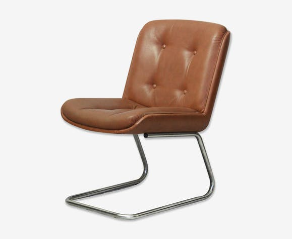 1970's Leatherette vintage desk armchair