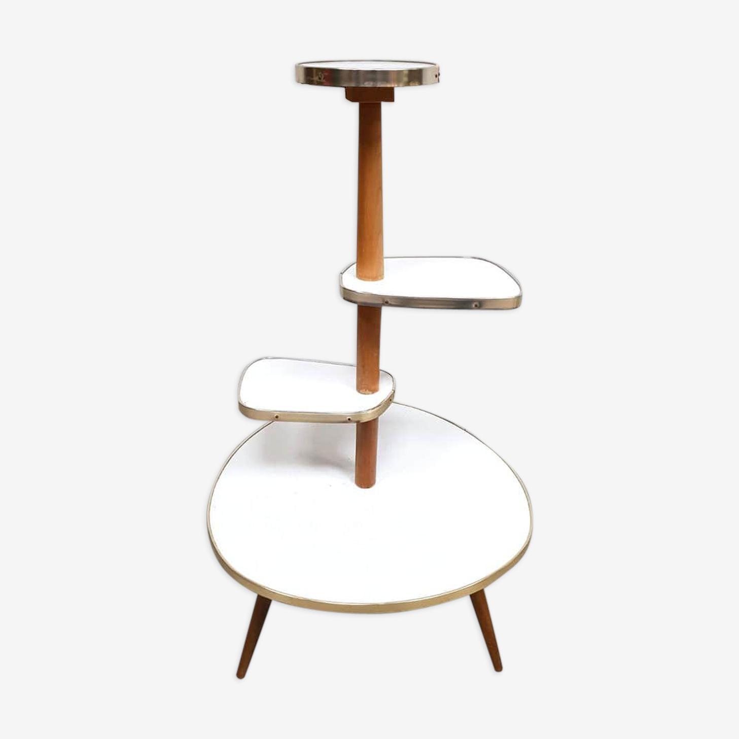 Table présentoir à plantes vintage années soixante