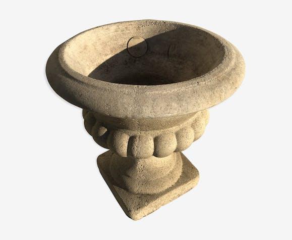 Pot Medicis grandon pot plantes en pierre reconstitué France jardin