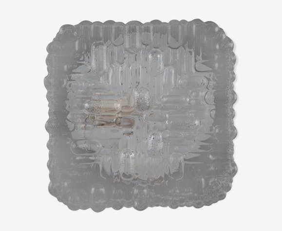 Square ceiling light glass  seventies