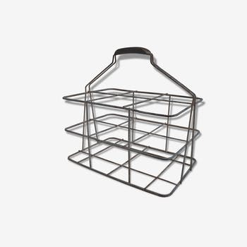 Former basket rack X 6 deco steel kitchen wine cellar