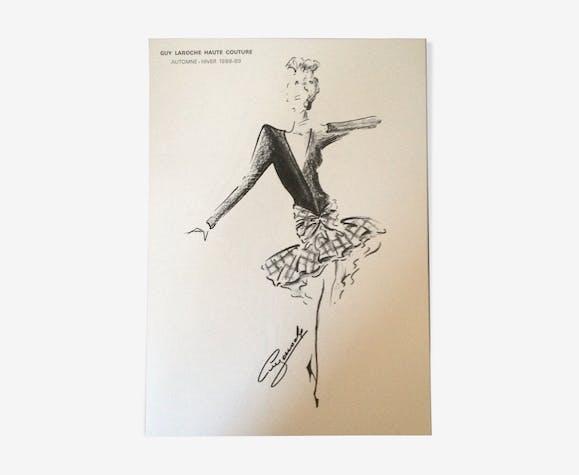 Nice press fashion illustration Guy Laroche- Collection autumn - winter 1988/1989
