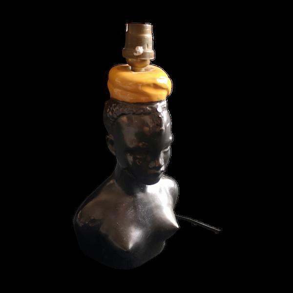 Lampe ceramique-porcelaine-faience noir