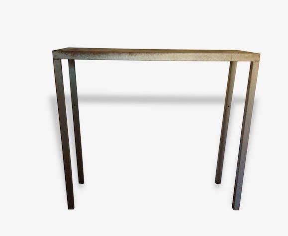 Console industrielle vintage en métal et bois - métal - gris ...