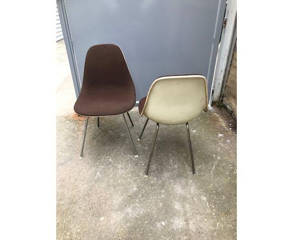 Paire de chaises DSX par Charles et Ray Eames pour Herman Miller
