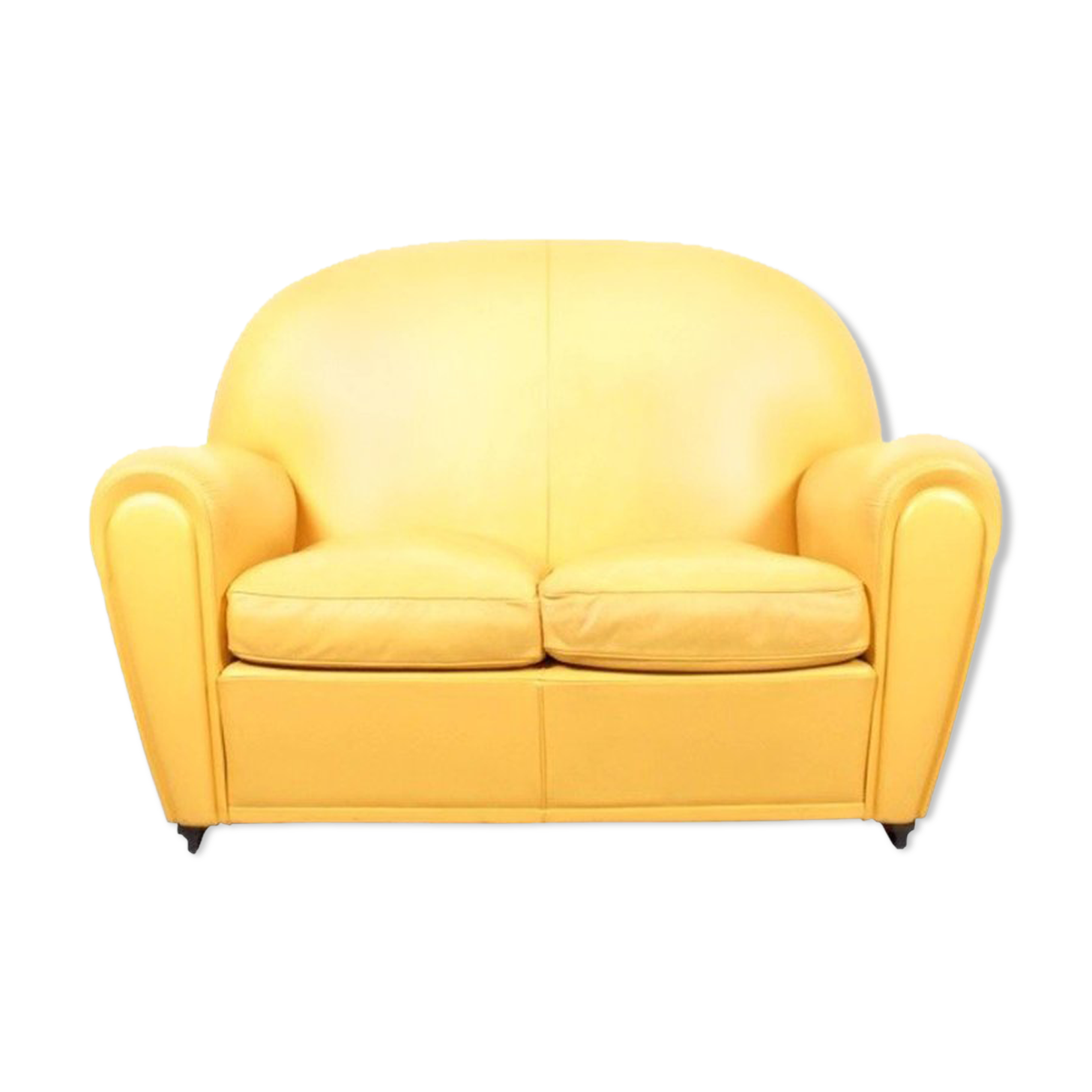 canap cuir jaune perfect salon canaps cuir relaxation mecanique with canap cuir jaune. Black Bedroom Furniture Sets. Home Design Ideas