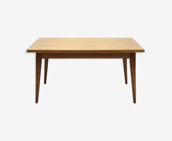 Table à manger design danois en teck extensible des années 1960