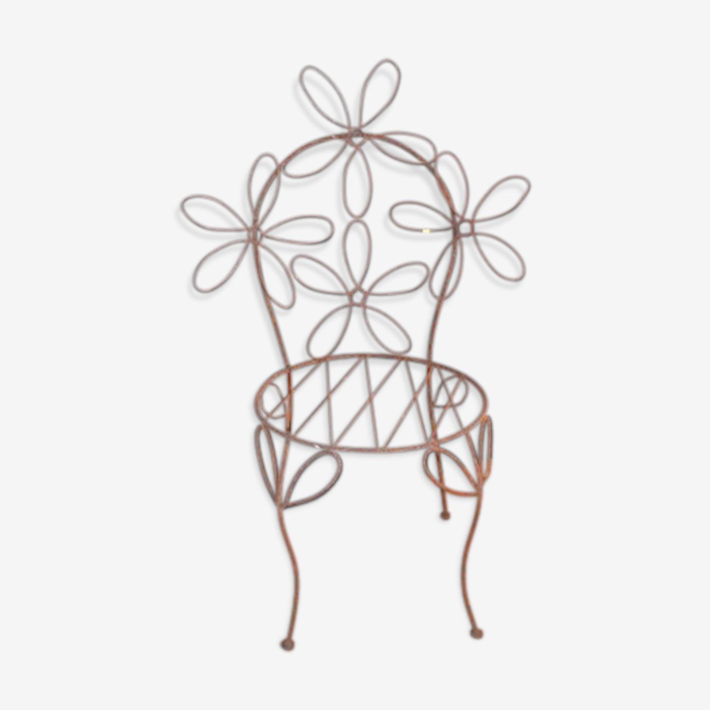 Chaise de jardin pour enfant en fer forgé