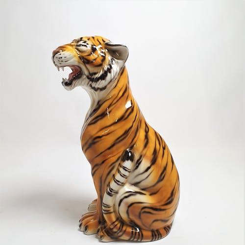 Tigre en céramique, Italie, années 70