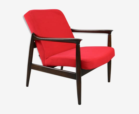 Red armchair by Edmund Homa, 1970