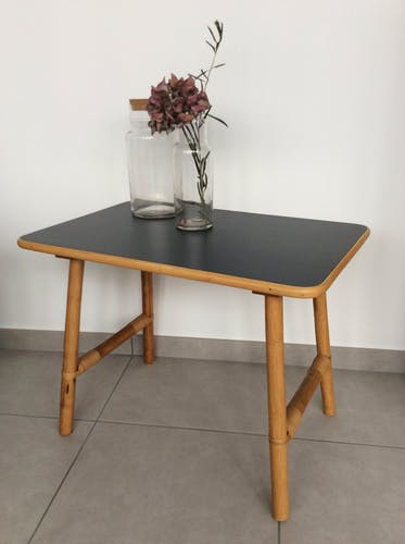 Table d'appoint rotin & bambou