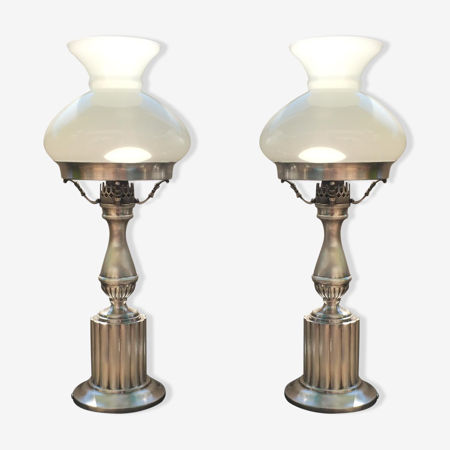 Paire de lampes art deco 1920